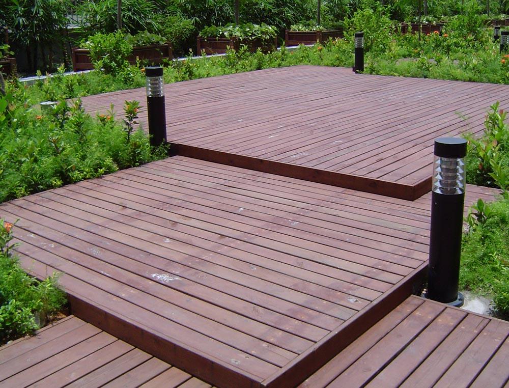 芬兰防腐木,别墅花园设计