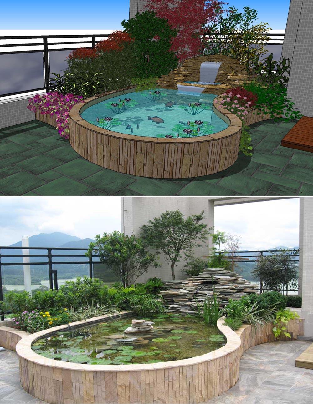 园林景观,别墅花园设计,防腐木,芬兰木,户外家私图片